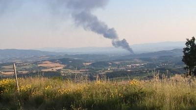 Incendio alla Biondi recuperi: due  ore di lavoro da parte VV.FF. con 8 mezzi