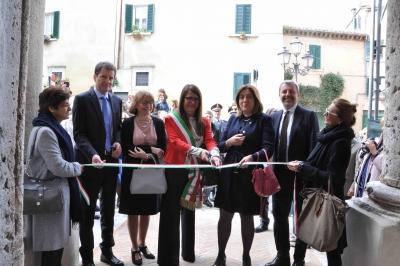 """Inaugurato recupero Sant'Agostino di Amelia (Puc2); Marini: """"esempio di uso intelligente risorse europee"""". Anche 9 alloggi e sede INPS"""