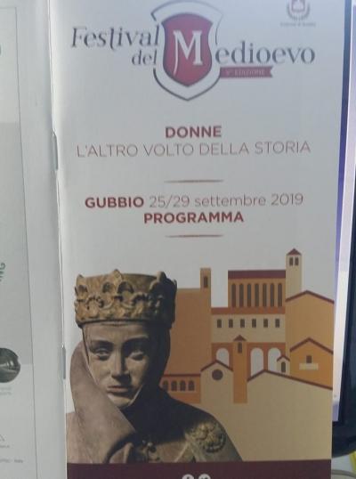 """Festival del Medioevo Gubbio: """"Voci di donne. L'altro volto della Storia..."""": presentazione in Regione; evento a Gubbio dal 25 al 29 settembre"""