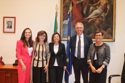 Infrastrutture: Giunta regionale Marche incontra a Roma, Ministra De Micheli