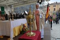 Celebrata a Norcia Festa San Benedetto; fiaccola arriva dopo benedizione Papa