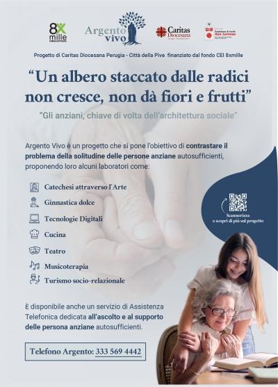 """Perugia: progetto Caritas """"Argento vivo"""" per contrastare problema solitudine persone anziane"""