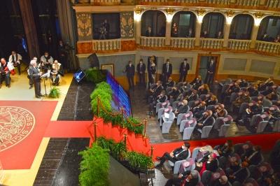 Mattarella all'ianugurazione anno accademico universita' di Macerata 730/mo fondazione