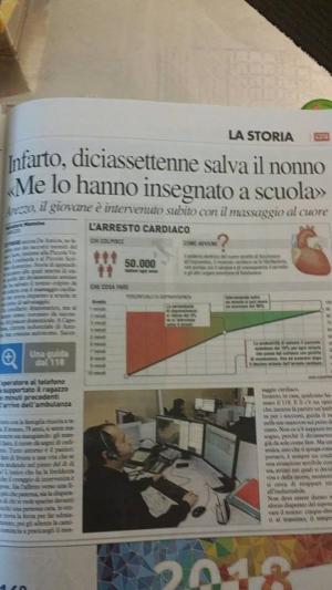 Perugia Citta' Cardioprotetta: su La Nazione, da Arezzo, un articolo da leggere. Uno studente salva il nonno
