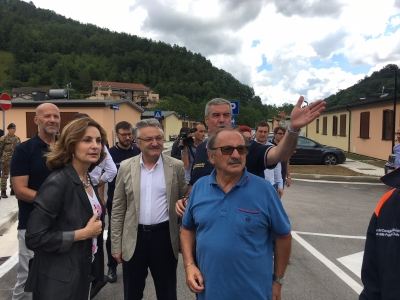 """Delegazione UE ad Arquata del Tronto: Protezione civile e delle regioni """"un esempio per l'europa"""""""