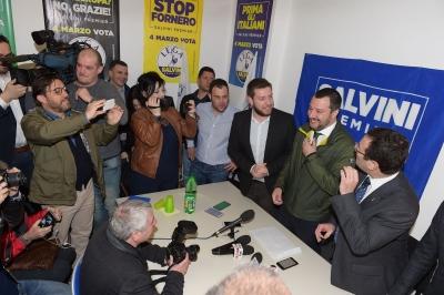 Amministrative: Salvini (Lega) a Terni presenta candidato Leonardo Latini.  Consultazioni: diremo il CentroDestra ha preso piu' voti. Vogliamo governare