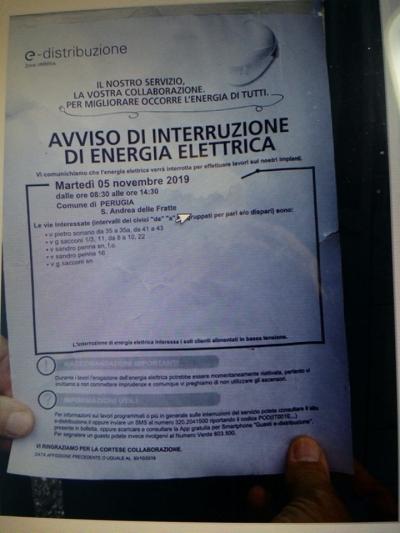 Lavori su Rete: E-distribuzione interrompe Energia elettrica zona Sant'Andrea delle Fratte