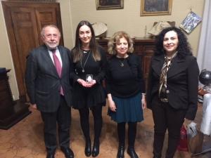 Universita': Paciullo riceve Silvia Fiacca, la laureata alla Stranieri premiata dal Presidente Mattarella