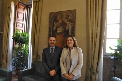 Presidente Marini riceve il nuovo questore di Perugia, Giuseppe Bisogno
