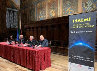Perugia: cardinale Ravasi sul Libro dei Salmi alla Sala dei Notari. «Perugia un luogo in cui i Salmi potrebbero manifestare la loro bellezza pur nel momento del dolore»
