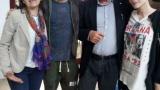 Bocci e Laura Chiatti in visita a Residence Daniele Chianelli